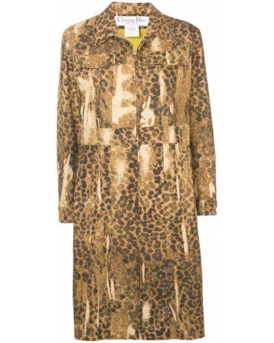 Длинное пальто с капюшоном на пуговицах Christian Dior Pre-owned