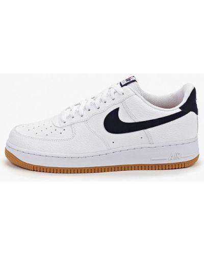 Низкие кеды белые кожаный Nike