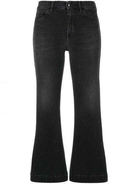 Расклешенные серые укороченные джинсы в стиле бохо The Seafarer