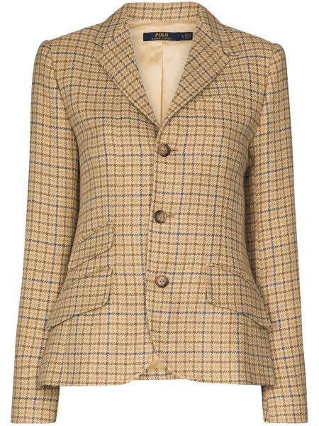 Bawełna z rękawami brązowy koszulka polo z kieszeniami Polo Ralph Lauren