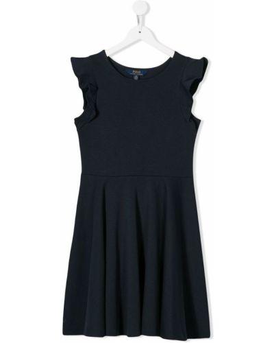 Платье с рукавами приталенное расклешенное Ralph Lauren Kids