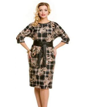 Повседневное платье с поясом платье-сарафан Novita