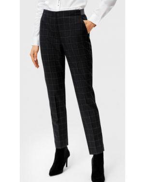 Серые со стрелками брюки на резинке с воротником с открытым носком Ostin