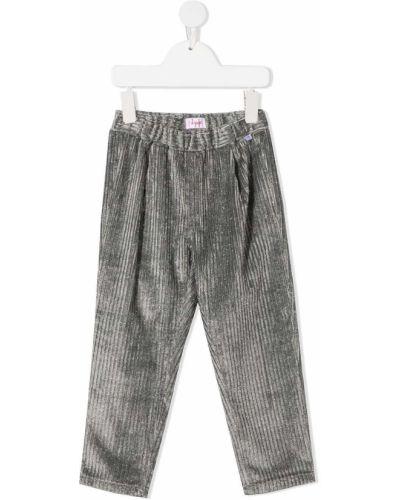 Прямые серые брюки вельветовые Il Gufo