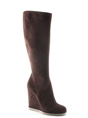 Кожаные сапоги - коричневые Vicini