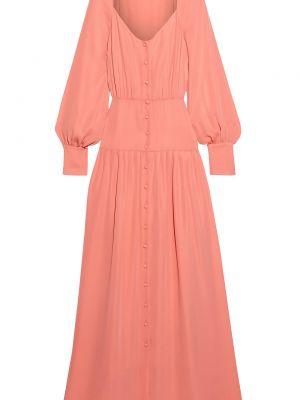 Плиссированное красное платье макси с подкладкой Iris & Ink