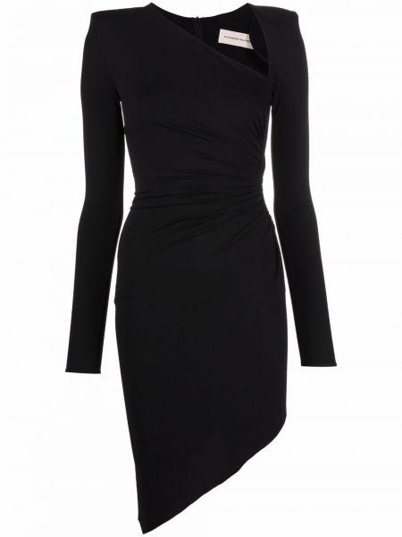 Czarna sukienka z wiskozy Alexandre Vauthier