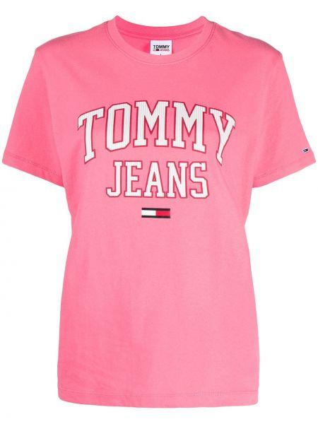 Biały bawełna bawełna koszula jeansowa krótkie rękawy Tommy Jeans