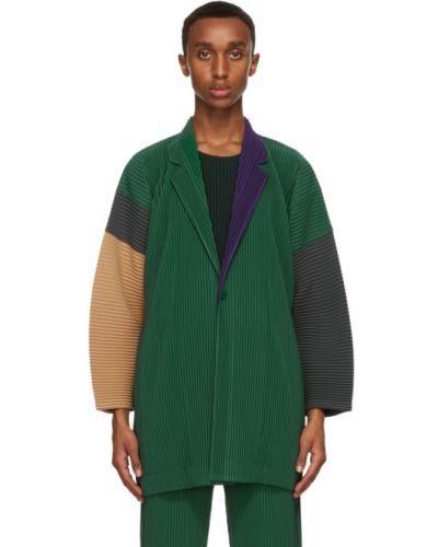 Малиновый удлиненный пиджак с карманами с воротником Homme Plissé Issey Miyake