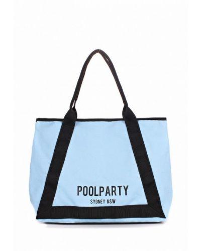 Голубая пляжная сумка Poolparty