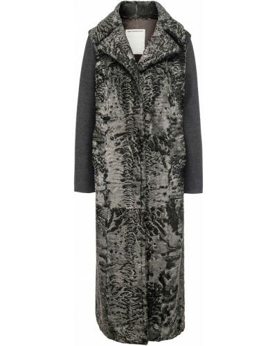 Длинное пальто прямое однобортное Color Temperature