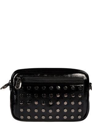 Кожаная сумка черная лаковый Sara Burglar