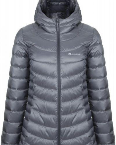 Теплая серая приталенная утепленная куртка на молнии Outventure