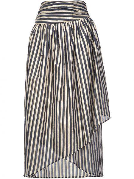 Bawełna bawełna niebieski asymetryczny spódnica Pinko
