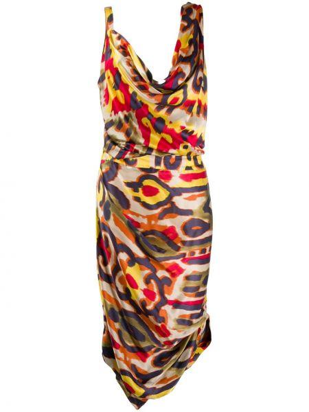 Плиссированное приталенное драповое платье Vivienne Westwood Pre-owned