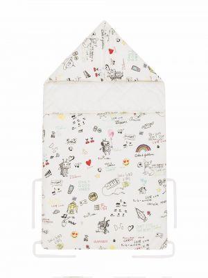 Biała torebka z printem Dolce & Gabbana Kids