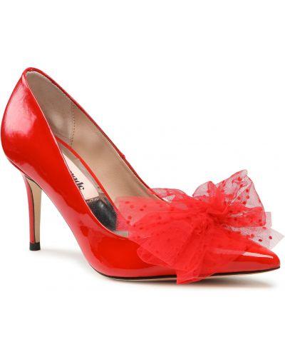 Czerwone półbuty eleganckie Custommade