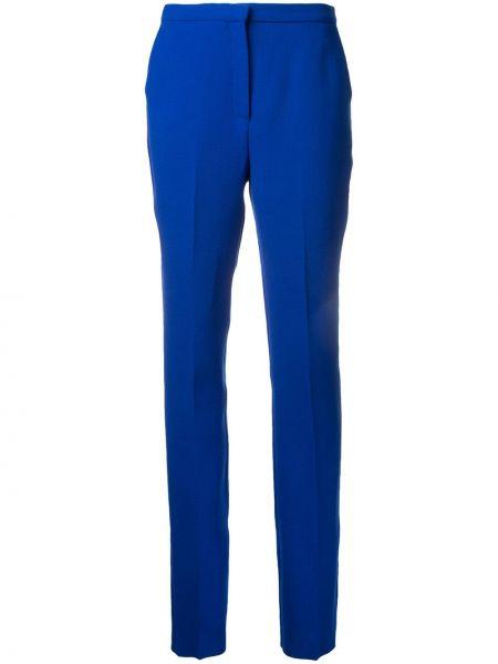 Шерстяные синие брюки с карманами Mary Katrantzou