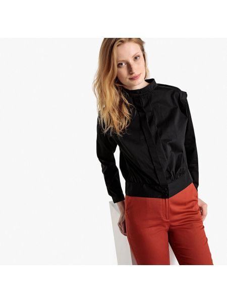 Блузка с длинным рукавом с воротником-стойкой длинная La Redoute