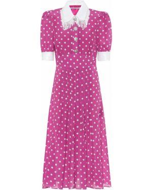 Платье шелковое фиолетовый Alessandra Rich