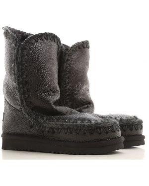 Buty czarne wełniany Mou