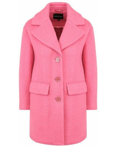 Пальто прямое шерстяное Emporio Armani