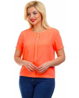 Блузка с коротким рукавом коралловый со стразами Liza Fashion