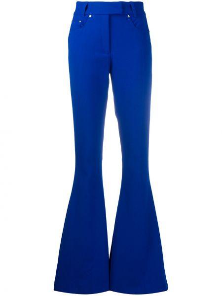 Расклешенные синие брюки из вискозы Filles A Papa