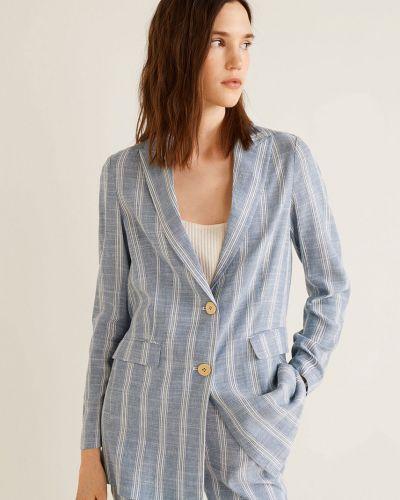 Классический пиджак в клетку с поясом Mango