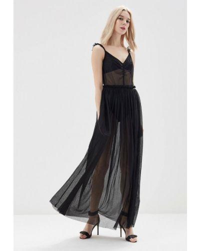 Черное коктейльное платье Guess Jeans