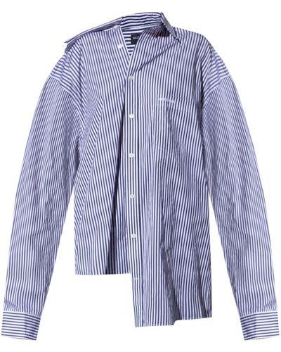 Niebieska koszula zapinane na guziki Balenciaga