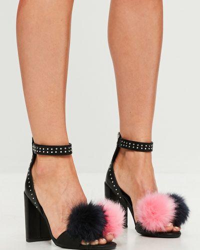 Туфли на каблуке черные Missguided