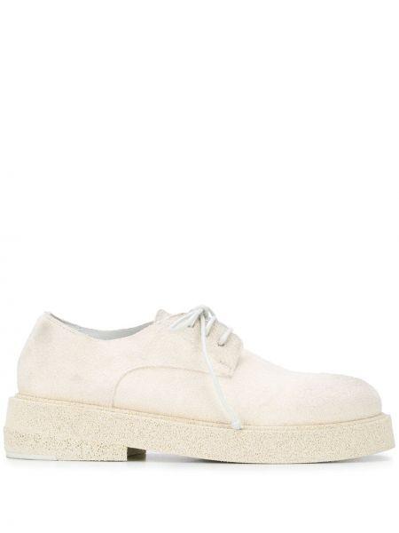 Buty brogsy skórzany biały Marsell