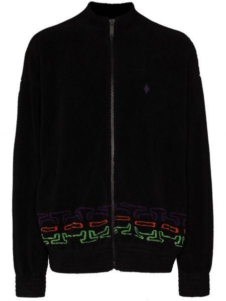 Czarny bawełna bawełna długa kurtka z długimi rękawami Marcelo Burlon County Of Milan