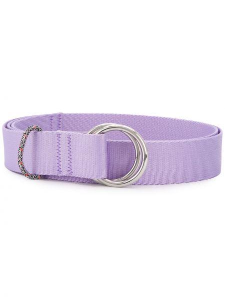 Фиолетовый тонкий ремень с пряжкой с поясом Ganni
