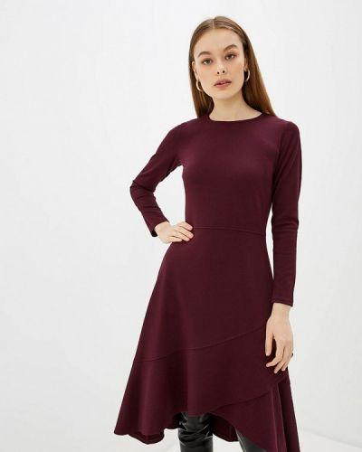 Фиолетовое прямое платье Арт-Деко