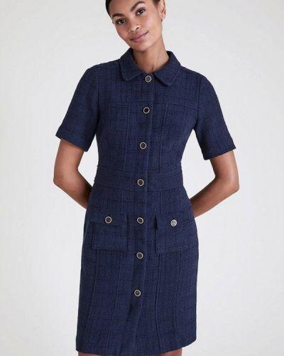Синее платье-рубашка Marks & Spencer