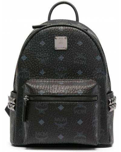 Рюкзак с заклепками - черный Mcm