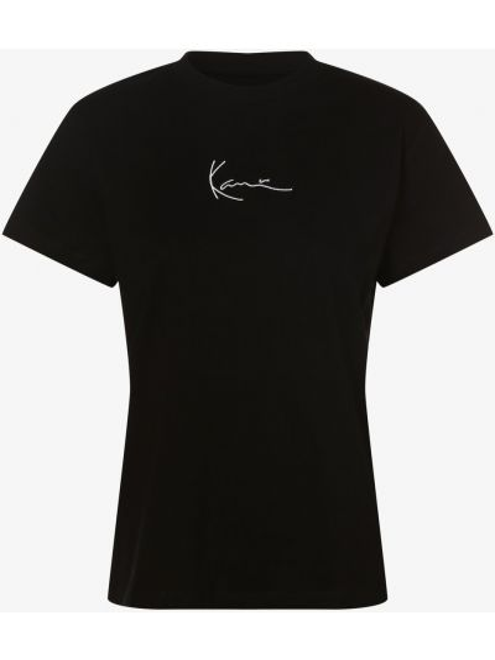 Czarna t-shirt z haftem elegancka Karl Kani