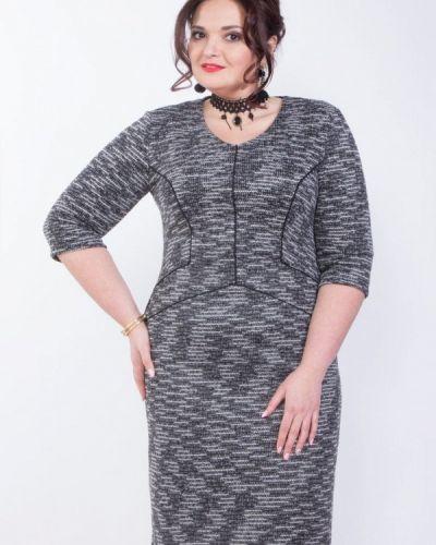 Деловое платье серое весеннее Wisell