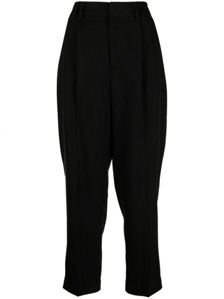 Хлопковые зауженные черные брюки Pt01