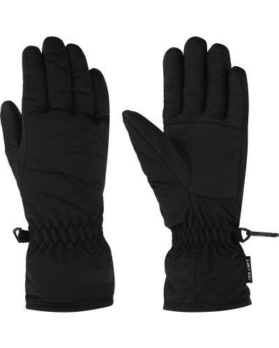 Деловые текстильные черные перчатки Glissade