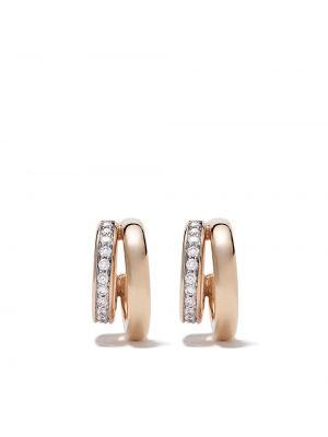 Białe złote kolczyki sztyfty z diamentem Pomellato