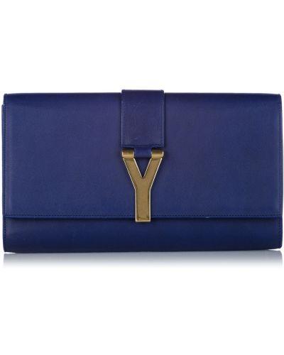 Kopertówka skórzana - niebieska Saint Laurent Vintage