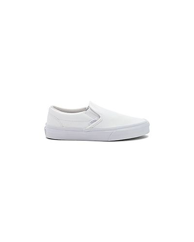 Слипоны кожаные белые Vans