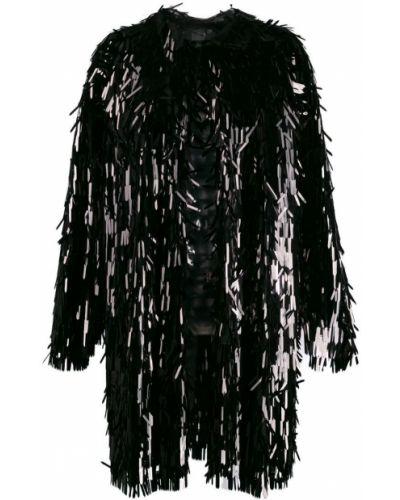 Длинное пальто с бахромой пальто-тренч Norma Kamali