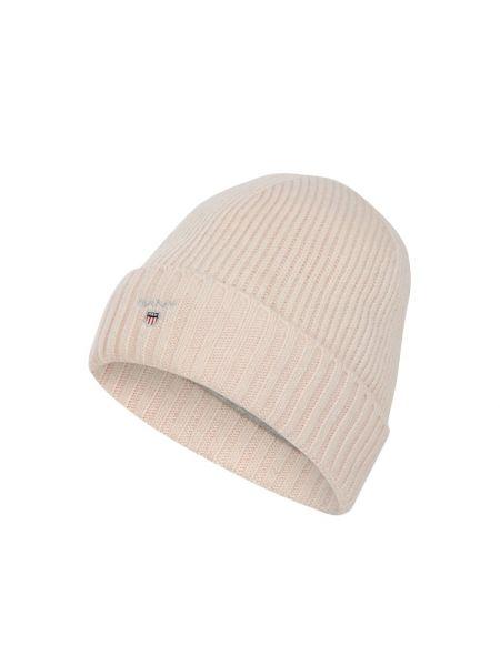 Prążkowana różowa czapka wełniana Gant