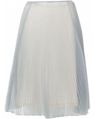 Юбка миди плиссированная шелковая Prada