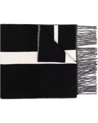Z kaszmiru szalik - czarny Valentino