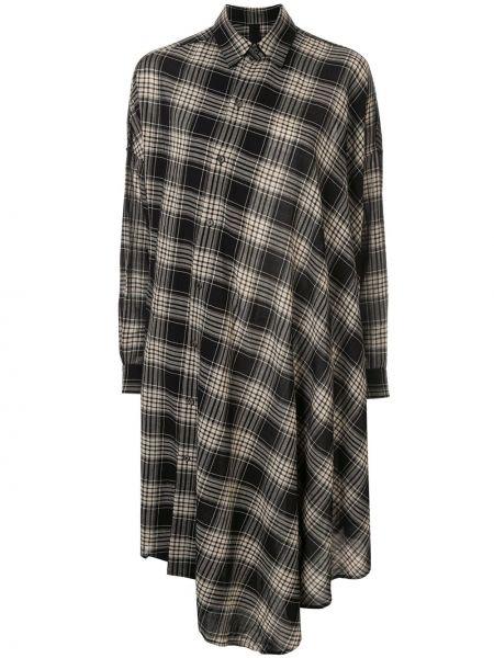 Нейлоновое классическое платье миди на пуговицах с воротником Forme D'expression